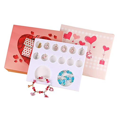 Erfula Charm Bracelet DIY Making Kit Bracelets Charms for Jewelry Making With 12 Different Accessories and 2 Different Chains Include Hearts Letters L, O, V, E or Other Romantic Decorations pleasure