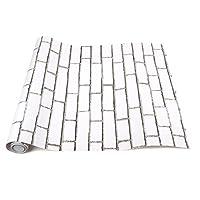 Takarafune 壁紙 レンガ はがせる壁紙シール 簡単 模様替え リメイクシート 白 ウォールステッカー カッティングシート のり付き 補修シール 防水 耐熱