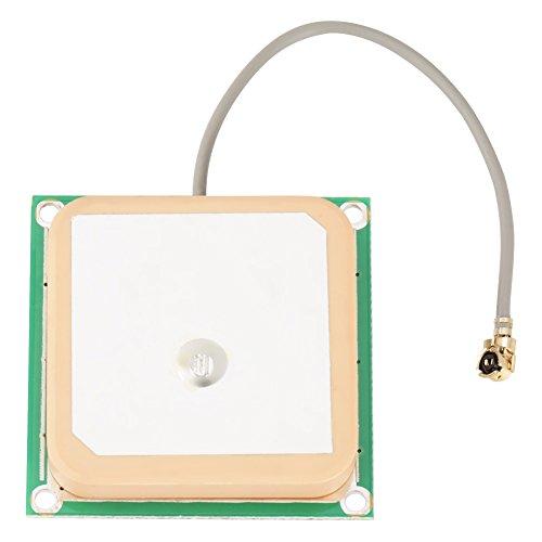 Actieve GPS-antenne, binnenantenne van keramiek, super sterk, 1575 MHz, met kabel met 5 cm lengte, stekker SMA, aansluiting 25 × 25 × 8 mm, versterking van de versterker 28 dB