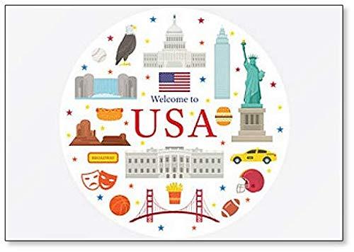 Aimant de réfrigérateur représentant des objets des États-Unis d'Amérique