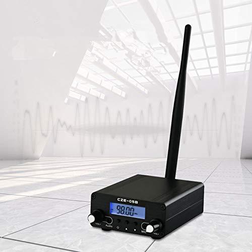 InLoveArts Transmisor FM 0.1 0.5W Digital LCD PLL Radiodifusión estéreo inalámbrica con Rango de Antena 76~108MHz Estación estéreo de Radio para la estación de Radio de la Iglesia Car Theater
