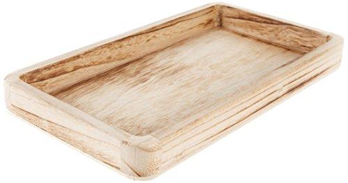 HEITMANN DECO Holz-Tablett rechteckig - Schlichtes Tablett als Dekoration - Tischdeko und Raumschmuck - Natur