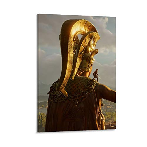 DRAGON VINES Póster de Assassin's Creed Odyssey Deimos de Guerrero Espartano de Oro con impresión de póster, murales e imágenes 30 x 45 cm