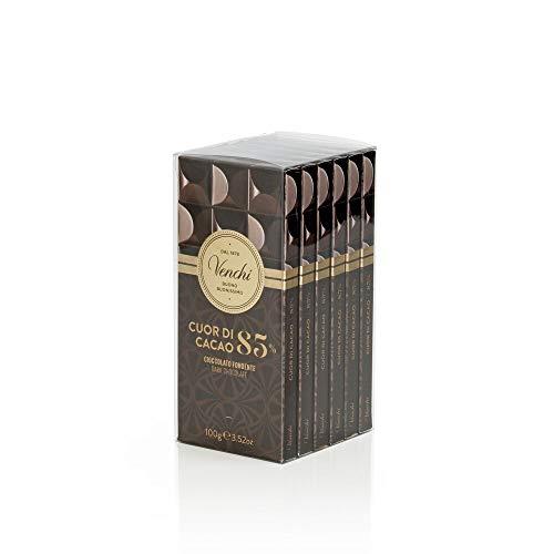 Venchi Kit tavolette astucciate Cuor di Cacao 85% 600g