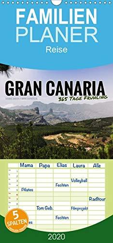 Gran Canaria - 365 Tage Frühling - Familienplaner hoch (Wandkalender 2020 , 21 cm x 45 cm, hoch): Zwölf atemberaubende Inselmomente (Monatskalender, 14 Seiten )