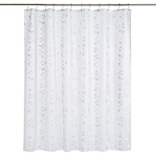Amazon Basics - Cortina de ducha de PEVA de peso medio, hiedra, 183 x 183 cm