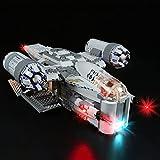 Tewerfitisme Juego de luces LED para Lego Star Wars The Mandalorian The Razor Crest, compatible con Lego 75292 (sin set Lego).