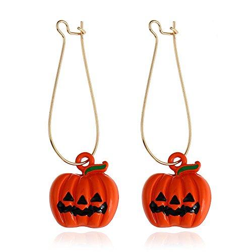 FXmimior Halloween Pompoen Oorbellen Oranje Dangle Oorbellen Trick of Behandel Hot Vrouwen Meisje Accessoires
