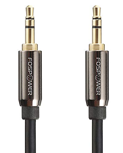 FosPower Audio Cable (15 FT), Stereo Audio 3.5mm Auxiliary Short Cord Male to Male Aux Cable for Car, Apple iPhone, iPod, iPad, Samsung Galaxy, HTC, LG, Google Pixel, Tablet & More