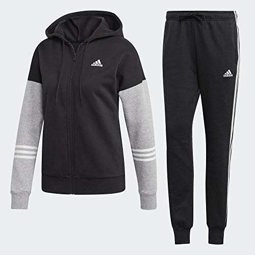 adidas WTS Co Energize, Suits Donna, Black/Medium Grey Heather/White, L