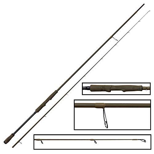 Savage Gear 251cm 12-35g SG4 Medium Game - Spinnrute zum Barschangeln & Zanderangeln, Zanderrute zum Kunstköderangeln, Raubfischrute, Blinkerrute