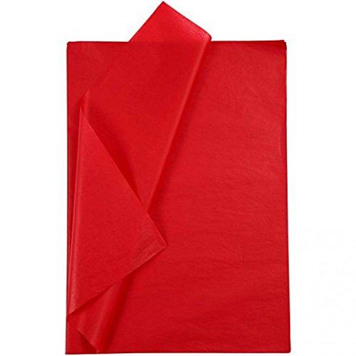 Découpage papier de soie 28 feuilles format 50x70cm Rouge