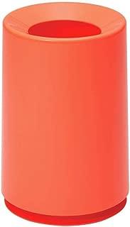 Ideaco TUBELOR Classic Designer Round Waste Bin, Conceals Any Plastic Bag 1.7 Gal, Gloss NEON Orange