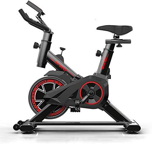 LOO LA Faltbarer Heimtrainer Klein Indoor Fitnessbike LED-Display Spinning Bike Platzsparend Fahrradtrainer Fahrrad für Zuhause Fitnessfahhrad für Zuhause Büro Training
