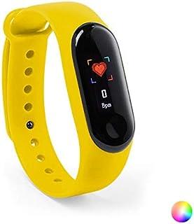 Eurroweb - Pulsera de actividad con Bluetooth con monitor de ritmo cardiaco de color amarillo