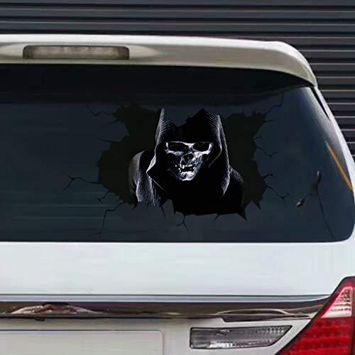 Hunpta @ Halloween Deko Wandaufkleber 3D-Effekt Silent Skull Horror Selbstklebende Fenster Aufkleber Wandtattoos Wohnzimmer Schlafzimmer Kinderzimmer Wand Party Dekoration