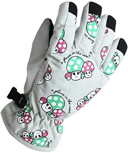 Peuters Kids Toggle winddicht Waterdicht Warm Thermal Padded Handschoenen 2-4 Years Outdoor SLIrts Handschoenen Fiets/Fietsen/sneeuwen/Skiën Handschoenen, Kleur: Lichtblauw (Color : Off White)