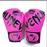 6P6 Guantes de boxeo, entrenamiento Sparring-Muay Thai lucha taekwondo, entrenamiento, fitness, boxeo, rosa,...