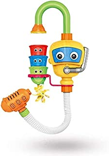 Zpong Baby Bath Toys Bathtub Accessories Waterwheel Shower Spray Water Play Game for Bath Bathroom Toy Kids Yellow Jialele