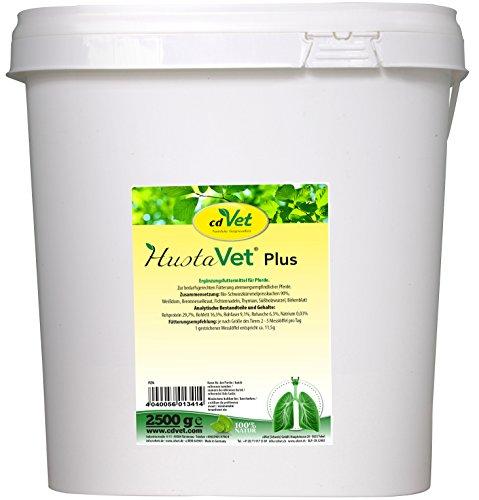 cdVet Naturprodukte HustaVet plus 2,5kg - Ideale Unterstützung für die Herbst- und Wintermonate - für atemwegsempfindliche Pferde geeignet - Schwarzkümmelpresskuchen -