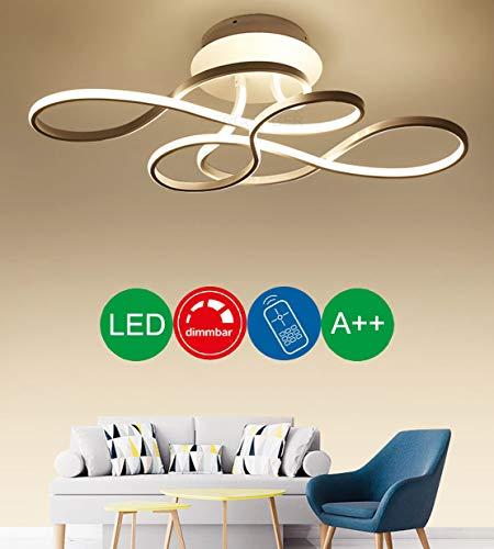 Lampara de techo LED juvenil regulable con mando a distancia, 3000-6500 K, metal, moderna, creativa lampara de arana para salon, dormitorio, bano, pasillo, oficina, lampara de techo