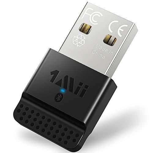1mii USB Bluetooth 4.0 Dongle Adapter für PC Laptop Desktop Stereo Kopfhörer, Tastatur, Maus, kompatibel mit Allen Windows 10/8.1/8 7 / XP/Vista - B04