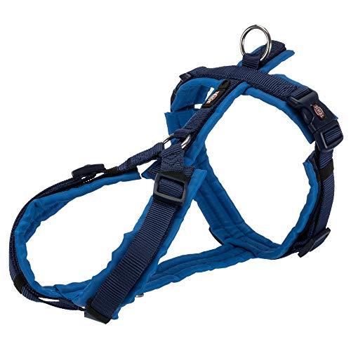 TRIXIE Arnés Trekking NEW Premium, XL: 80–97cm/25mm, Añil/Azul Cobalto, Perro