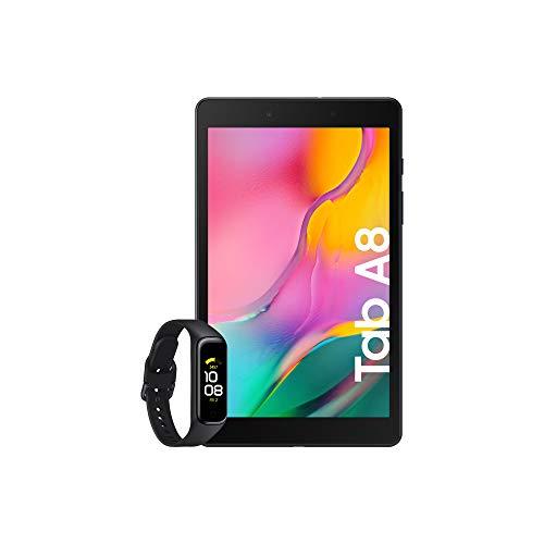 Samsung Galaxy Tab A (2019) - Tablet de 8' (Wi-Fi, RAM de 2GB, Almacenamiento de 32GB, Android actualizable), Color Negro + Galaxy Fit2 Negro