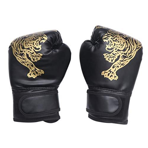 CLISPEED 1 Paar Kinder Boxhandschuhe Boxtrainingshandschuhe Kleinkinder Kickboxhandschuhe Sparringhandschuhe Schwere Taschenhandschuhe für Das Boxen Muay Thai MMA Schwarz