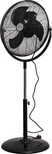 "Schallen 18"" 360° Rotation High Velocity Pedestal Floor Standing Air Cooling Fan in BLACK"
