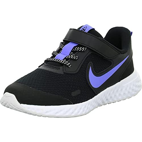 Nike Revolution 5 Glitter TDV, Zapatillas para Correr Unisex Niños, Black/Sapphire/Lemon Venom/Whi, 26 EU