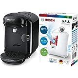 Bosch Hogar TAS1402 Cafetera Multibebidas Automática de Cápsulas, color Negro + BBZ41FGALL Bolsas para aspirador