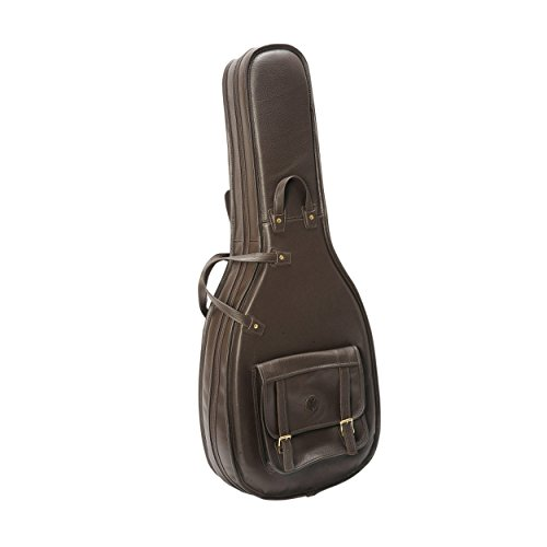 Levy's Leathers LM20-DBR Deluxe Leather Acoustic Guitar Bag, Dark Brown