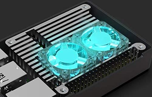 LABISTS Gran Disipador de Calor y Dos Ventiladores, Especialmente Diseñado para el kit LABISTS Raspberry Pi 4 con 8G RAM