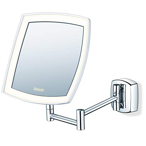 Beurer BS 89 LED Kosmetikspiegel, beleuchtet, zur Wandmontage, 5-fache Vergrößerung