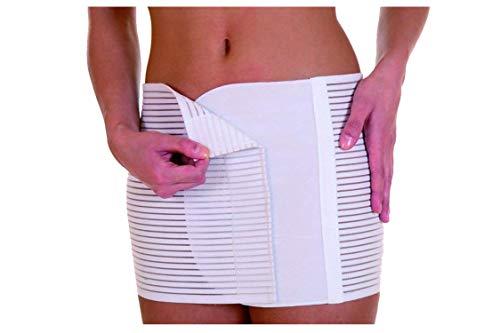 Vendaje abdominal hombre mujer post operatorio posparto cesárea altura H 27 cierre de velcro ajustable (5°)