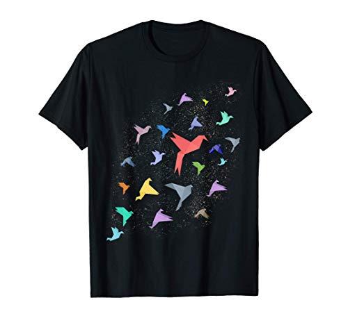 Grullas de origami Pájaros de origami japoneses Camiseta