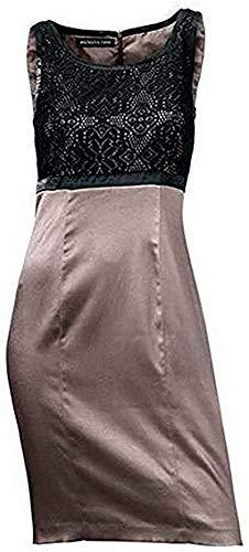 Patrizia Dini Kleid Etuikleid Taupe Gr. 34