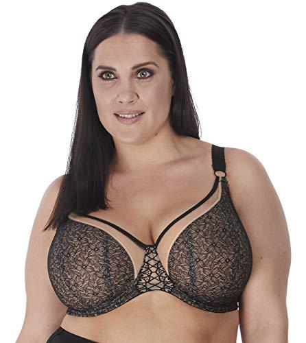 Elomi Women's Plus Size Sadie Underwire Balcony Bra, Black, 44GG