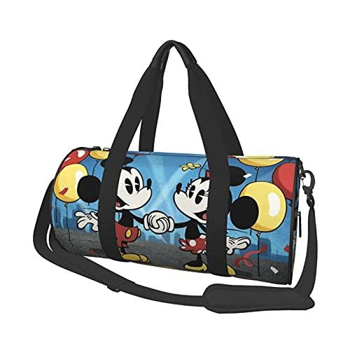 Bolsa de deporte con diseño de Mickey Minnie Mouse de dibujos animados para gimnasio, fin de semana y yoga, bolsa de viaje de noche unisex