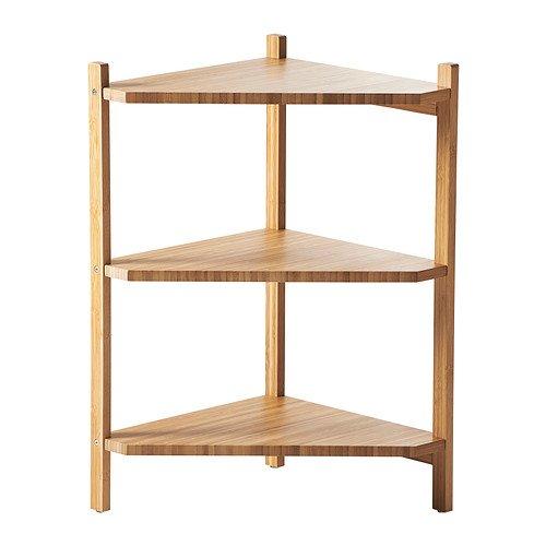 IKEA RAGRUND - lavabo/estante de la esquina, bambú - 34 x 60 cm