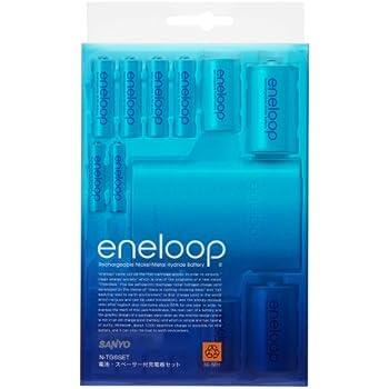 SANYO eneloop 電池スペーサー付充電器セット N-TG6SET