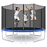 EPROSMIN 12Ft Jump Trampoline - with Enclosure Net - Combo Bounce Outdoor Trampoline for Kids Family Happy Time