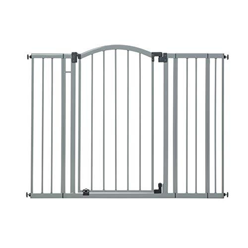 """Summer Extra Tall & Wide Safety Baby Gate, Cool Gray Metal Frame – 38"""" Tall, Fits Openings 29.5"""" to 53"""" Wide, Baby and Pet Gate for Extra-Wide Doorways, Stairs, and Wide Spaces"""