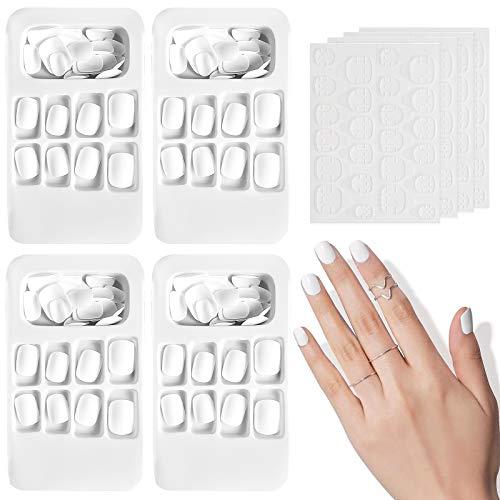 96 Stück Matt Falsche Nägel Set Künstliche Nail Tips, Kalolary Künstliche Fingernägel Natürliche Falsche Kunst Volles Sarg Nägel Tips für Frauen Mädchen