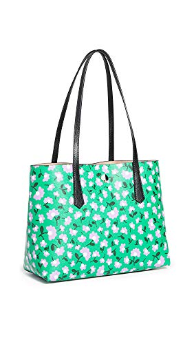 Kate Spade New York Women's Molly Party Floral Small Tote, Green Multi, One Size