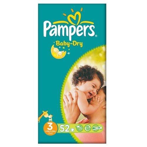 Pampers Baby Dry-Pannolini, misura 3, 4-9 kg), Essential Midi 2 pack x 52 pezzi
