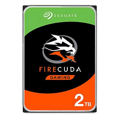 Seagate FireCuda, 2 TB, Disco duro interno híbrido, SSHD de alto rendimiento, 3,5 in, SATA, 6 GB/s, aceleración mediante flash, y 3 años de servicios Rescue (ST2000DX002)