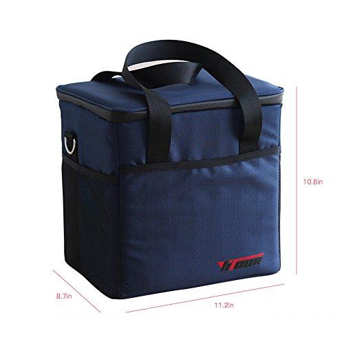 LOHAS HOME Kühltasche Picknicktasche Lunchtasche Mittagessen Tasche Thermotasche Isoliertasche für Lebensmitteltransport (24 Cans, 18 Liter)