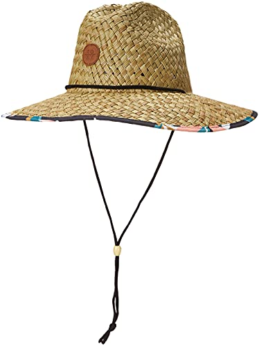 Roxy womens Pina to My Colada Straw Sun Hat, Anthracite Paradiso 213, Medium-Large US